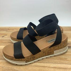Steve Madden Bandi Platform Wedge Sandal sz 10M
